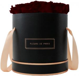 The Rosé Gold Collection Burgundy Large black - round