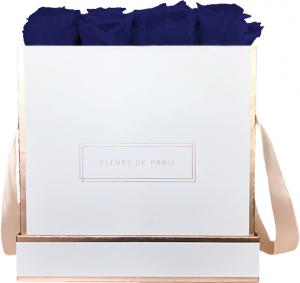 The Rosé Gold Collection Ocean Blue Large white - square