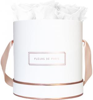 The Rosé Gold Collection Pure White Medium white - round