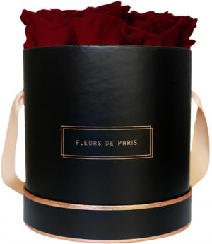 The Rosé Gold Collection Ruby Red Medium black - round