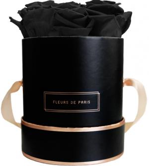 The Rosé Gold Collection Black Beauty Small black - round