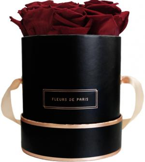 The Rosé Gold Collection Burgundy Small black - round